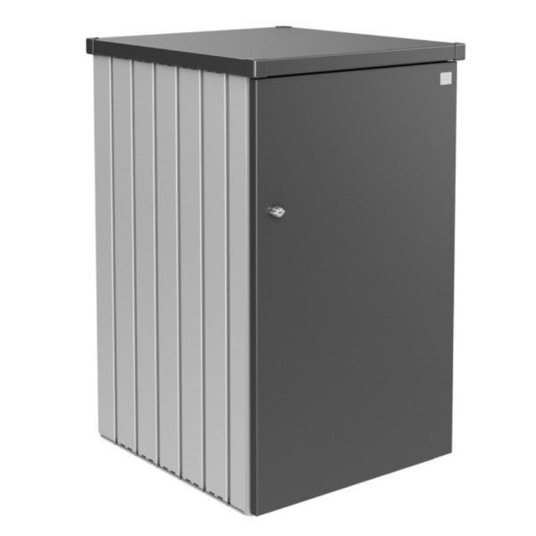 BIOHORT Mülltonnen-Box Alex silber-metallic/dunkelgrau-metallic Var. 1.3 - 9003414530645 | by gartenmoebel-fockenberg.de