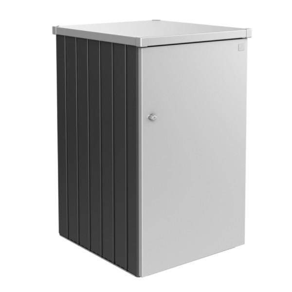 BIOHORT Mülltonnen-Box Alex dunkelgrau-metallic/silber-metallic Var. 3.1 - 9003414540637 | by gartenmoebel-fockenberg.de