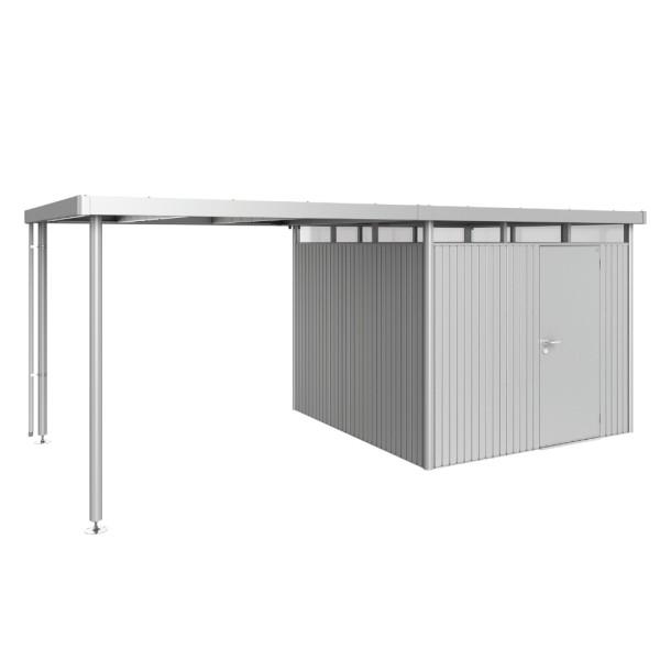 BIOHORT Seitendach für HighLine H4 silber-metallic