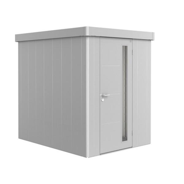 BIOHORT Gerätehaus Neo 2A 180x236 mit Einzeltür silber-metallic