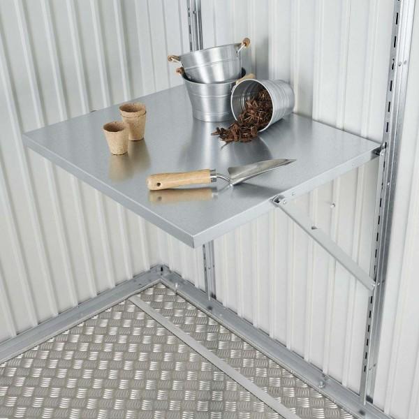 BIOHORT Klapptisch für Geräteschrank-Serie, 69 x 58 cm - 9003414400115 | by gartenmoebel-fockenberg.de