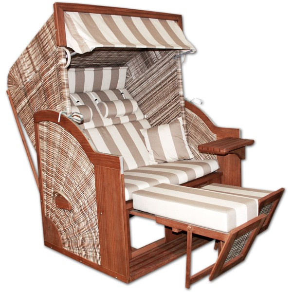 DEVRIES Strandkorb Pure Comfort plus XL HL, Design 422 | © by gartenteiche-fockenberg