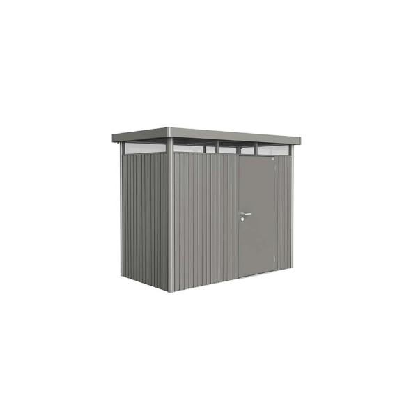 BIOHORT Gerätehaus HighLine H1 275x155 mit Einzeltüre quarzgrau-metallic - 9003414880207 | by gartenmoebel-fockenberg.de