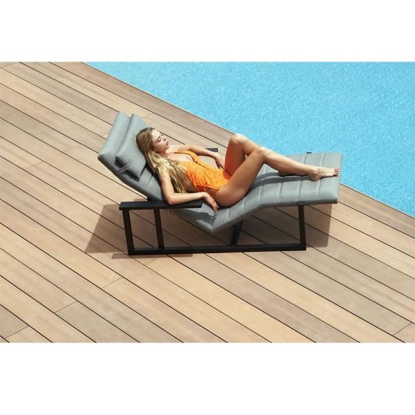 STRANDFLAIR® Relax-Liege Avilla Aluminium | by gartenmoebel-fockenberg.de