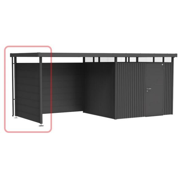 BIOHORT Seitenwand für Seitendach für HighLine H3 dunkelgrau-metallic