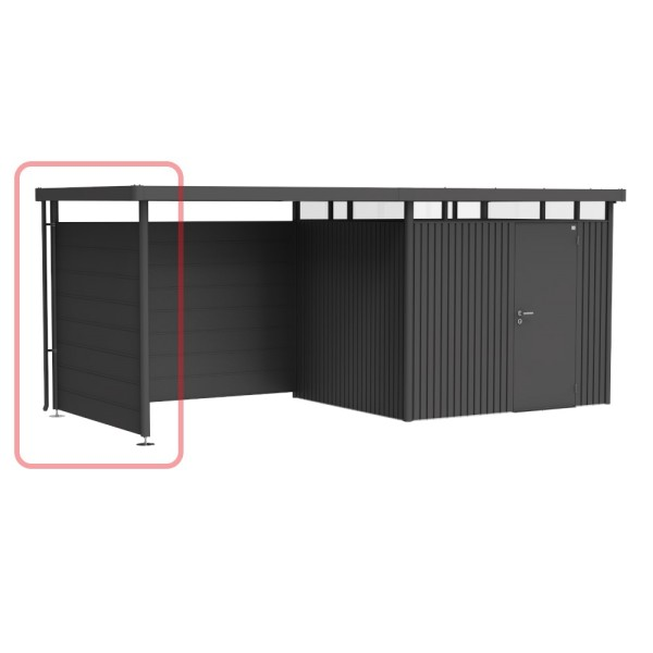 BIOHORT Seitenwand für Seitendach für HighLine H2 dunkelgrau-metallic