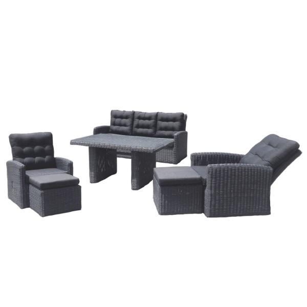 STRANDFLAIR® Lounge-Set Lembata Polyrattan | by gartenmoebel-fockenberg.de