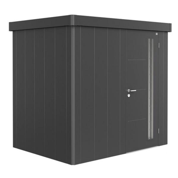 BIOHORT Gerätehaus Neo 1B 236x180 mit Einzeltür dunkelgrau-metallic