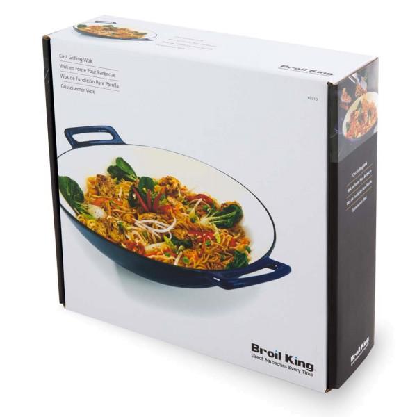 BROIL KING Gusseiserner Grill-Wok porzellan-emailliert Ø 35,6cm - 60162697104 | gartenmoebel-fockenberg.de