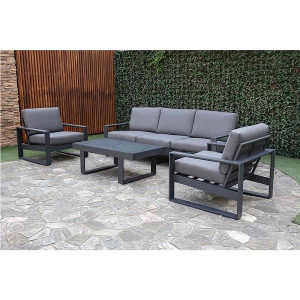STRANDFLAIR® Lounge-Set Pala Aluminium | by gartenmoebel-fockenberg.de