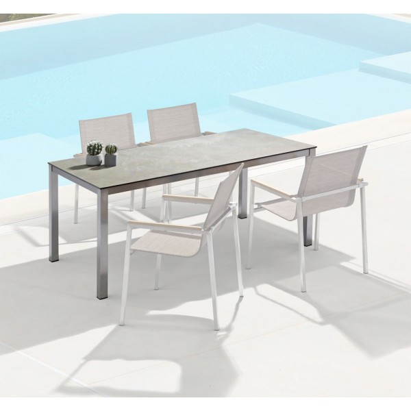 STRANDFLAIR® Dining-Tisch Seine grau vintage | by gartenmoebel-fockenberg.de
