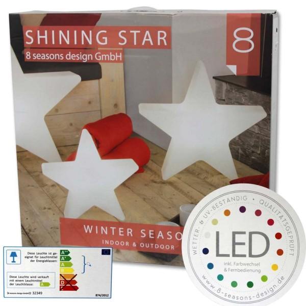 8 SEASONS Shining Star Ø 80 cm LED - 4033802720735 | © by gartenmoebel-fockenberg.de