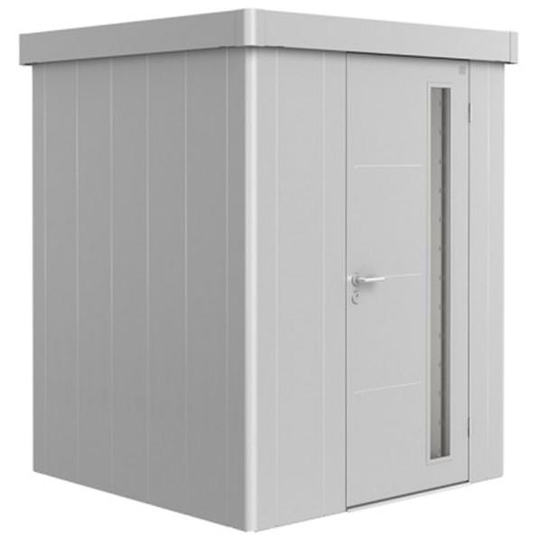 BIOHORT Gerätehaus Neo 1A 180x180 mit Einzeltür silber-metallic