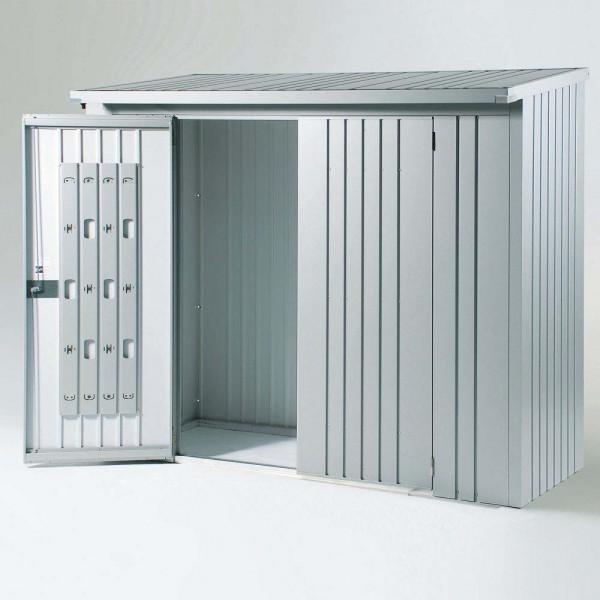 BIOHORT Türpaket für WoodStock 230 silber-metallic, 138 x 172,5 cm - 9003414350021 | by gartenmoebel-fockenberg.de