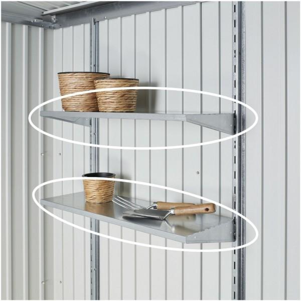 BIOHORT Regalböden 4 Stk. für Europa, HighLine, Panorama, AvantGarde u. Geräteschrank, 72 x 24,5 cm - 9003414450202 | by gartenmoebel-fockenberg.de