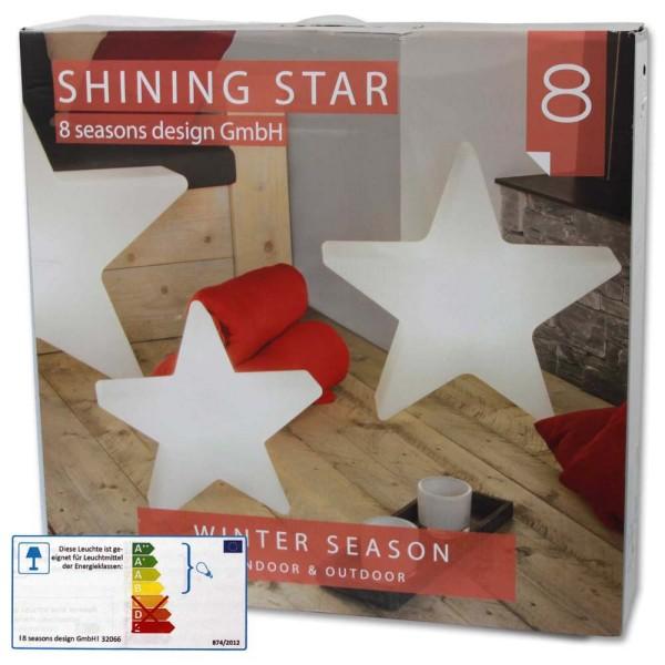 8 SEASONS Shining Star Ø 80 cm weiß - 4033802320737 | © by gartenmoebel-fockenberg.de