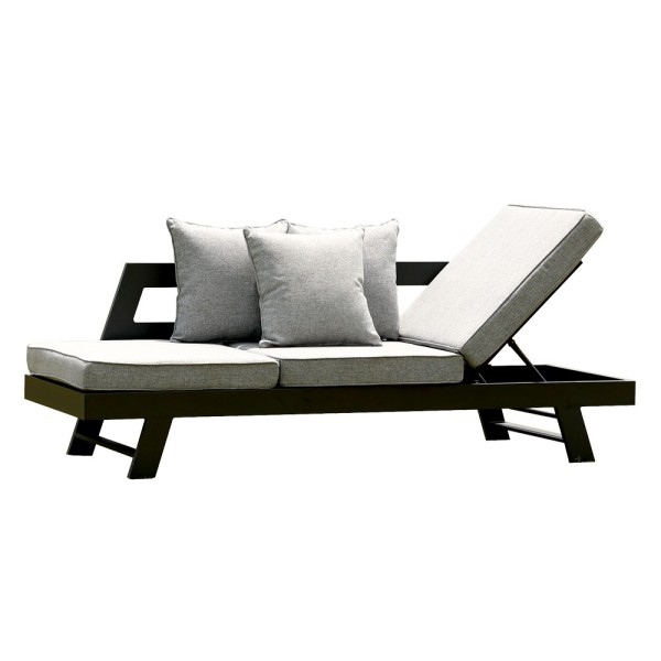 STRANDFLAIR® Sofa/Liege Hollywood Aluminium | by gartenmoebel-fockenberg.de