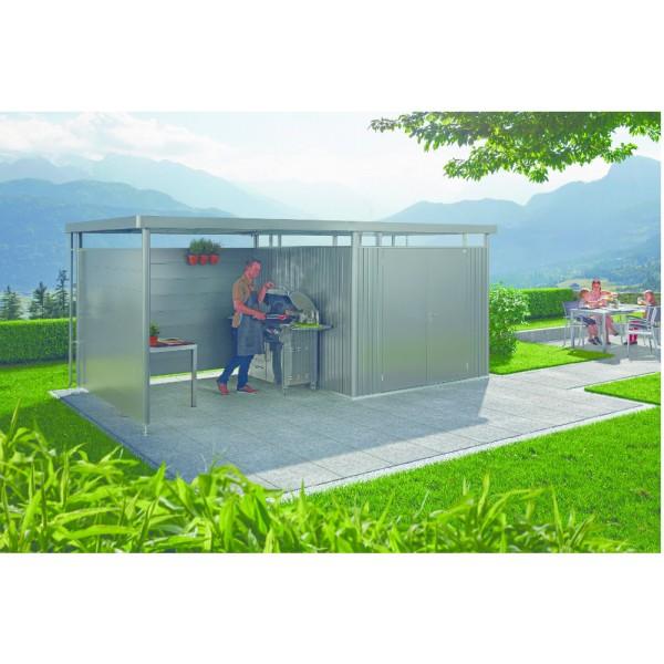BIOHORT Rückwand für Seitendach für HighLine H2-H5 silber-metallic - 9003414830981 | by gartenmoebel-fockenberg.de
