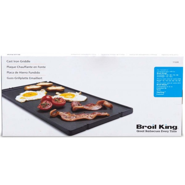 BROIL KING 1/3-Gussplatte geeignet für ST 2900, Sovereign 90/XL - 0626821112205 | gartenmoebel-fockenberg.de