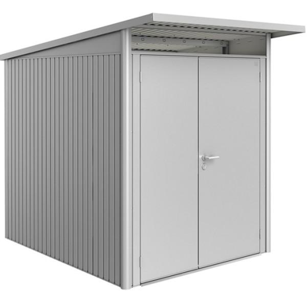 BIOHORT Gerätehaus Avantgarde A2 180x260 mit Doppeltür silber-metallic