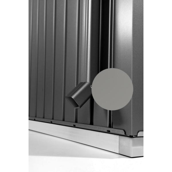 BIOHORT Regenfallrohr-Set für HighLine quarzgrau-metallic - 9003414440852 | by gartenmoebel-fockenberg.de