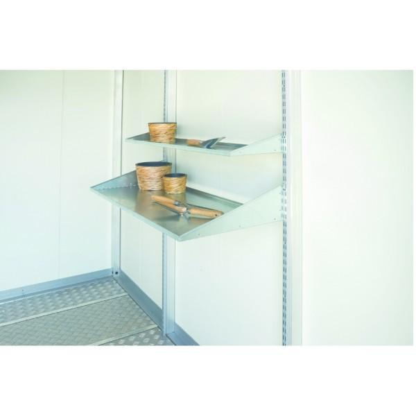 BIOHORT Regalböden-Set für CasaNova 3x3 - 3x6 u. 4x4 - 4x6, 24,5x99cm, 2 Stk. - 9003414500884 | by gartenmoebel-fockenberg.de