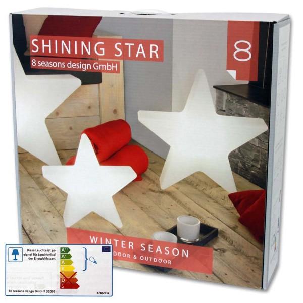8 SEASONS Shining Star Ø 60 cm weiß - 4033802320669 | © by gartenmoebel-fockenberg.de