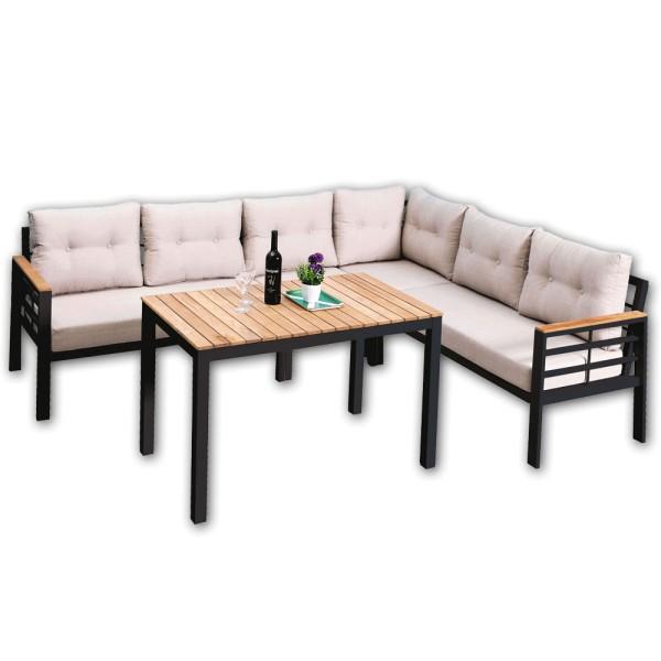 STRANDFLAIR® Lounge-Set Kreta Aluminium | by gartenmoebel-fockenberg.de