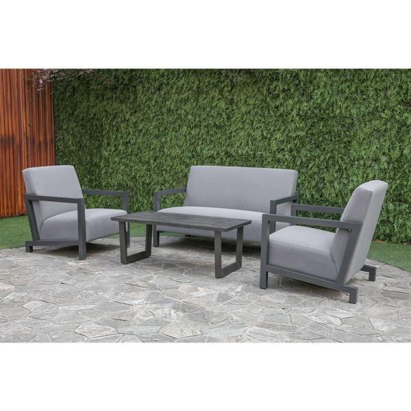 STRANDFLAIR® Lounge-Set Umbria Aluminium/Olefin | by gartenteiche-fockenberg.de